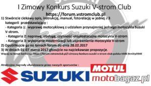 1 Zimowy konkurs Suzuki V-Strom Club